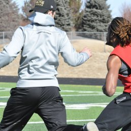 College Wide Receiver Training