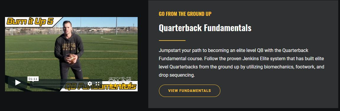 Online Quarterback Training